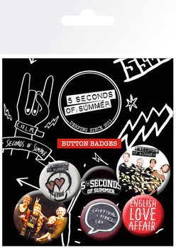 5 SECONDS OF SUMMER - Mix 1 Badge Pack